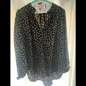 Madewell silk floral blouse size large